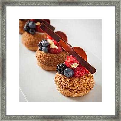 Berries And Cream Choux By The Famous Framed Print