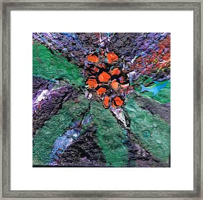 Berries Bursting Bright Framed Print by Anne-Elizabeth Whiteway