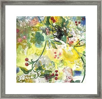 Berries Framed Print by Gloria Von Sperling