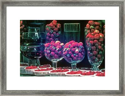 Berries In The Window Framed Print
