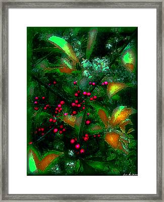 Framed Print featuring the photograph Berries by Iowan Stone-Flowers
