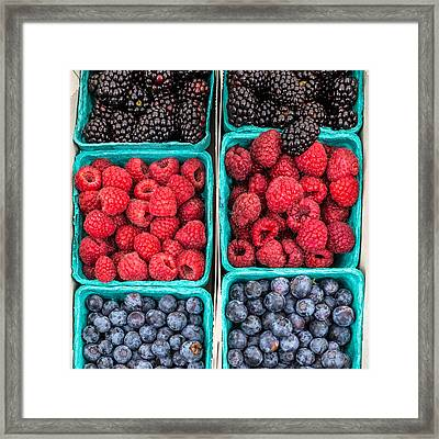 Berry Berry Delicious Framed Print by Peter Tellone