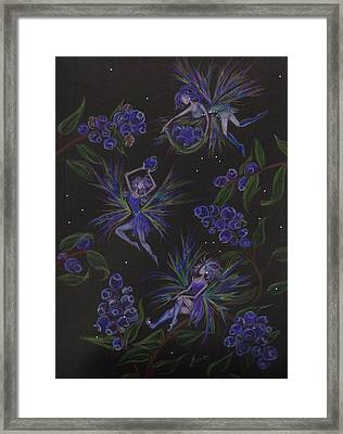 Berry Blues Framed Print