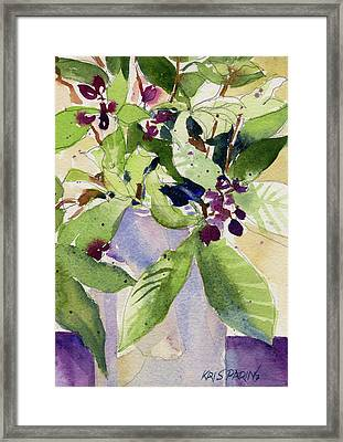Berry Bouquet Framed Print by Kris Parins
