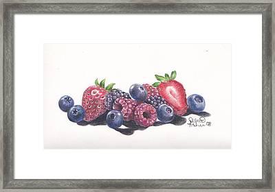Berry Delight Framed Print by Debbie Fischer
