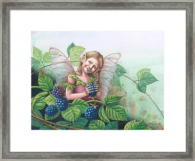 Blackberry Fairie Framed Print