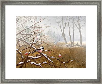 Berry Good Friends Framed Print by Sean Seal