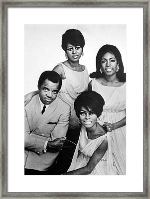 Berry Gordy With Diana Ross Framed Print