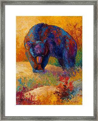 Berry Hunting Framed Print