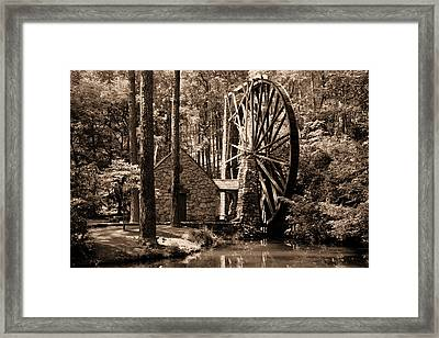Berry's Old Mill In Sepia Framed Print by Johann Todesengel