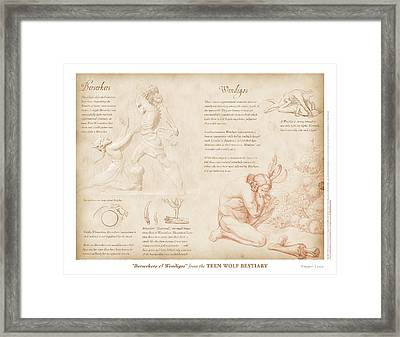 Berserkers And Wendigos Framed Print by Swann Smith