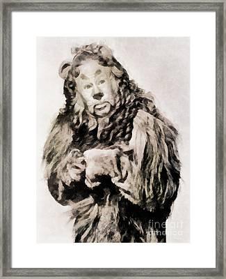 Bert Lahr, Lion, Wizard Of Oz Framed Print