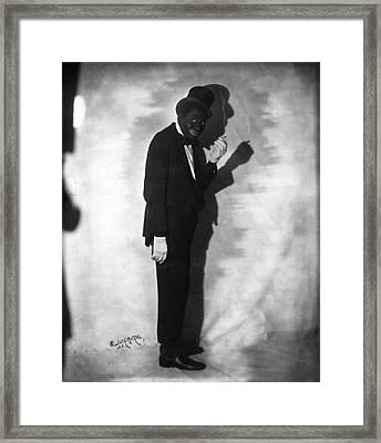 Bert Williams 1874-1922, Caribbean Born Framed Print by Everett