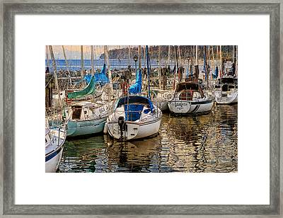 Berthed Framed Print