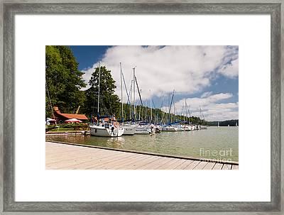 Berthed Sailing Boats Row Framed Print