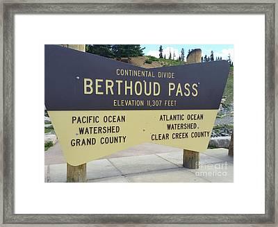 Berthoud Pass Framed Print