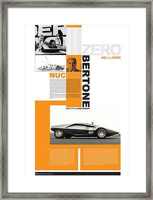 Bertone Poster Framed Print by Naxart Studio