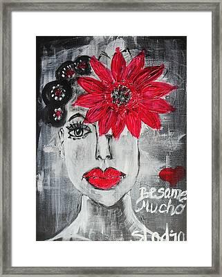 Besame Mucho Framed Print by Sladjana Lazarevic