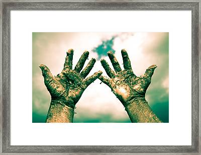 Beseeching Hands Framed Print