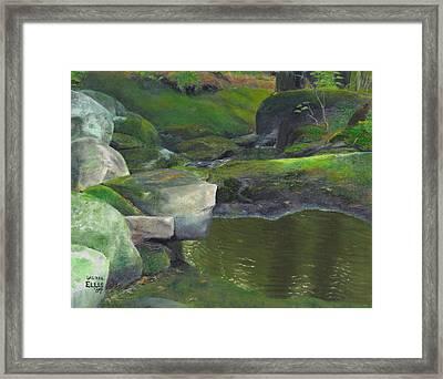 Beside Cool Waters Framed Print by Laurel Ellis