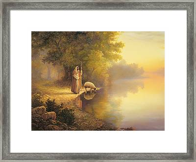 Beside Still Waters Framed Print by Greg Olsen