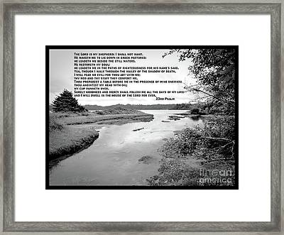 Framed Print featuring the photograph Beside Still Waters by Methune Hively