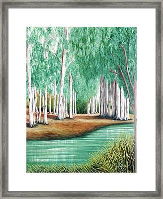 Beside Still Waters - Prints Of My Original Oil Paintings  Framed Print