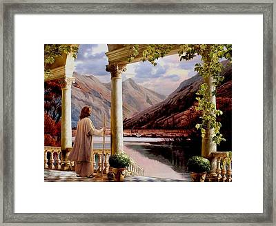 Beside Still Waters Framed Print by Ron Chambers