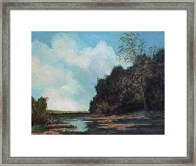 Beside Still Waters Framed Print by Sharon Steinhaus