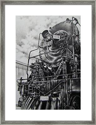 Beside The Floodwall Mikado 1518 Framed Print by Michael Lee Summers