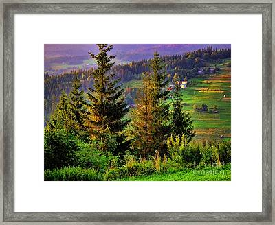 Framed Print featuring the photograph Beskidy Mountains by Mariola Bitner