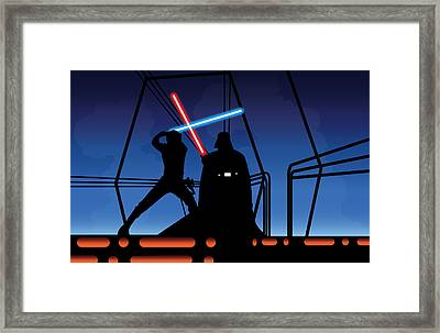 Bespin Duel Framed Print