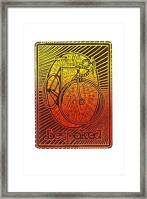 Bespoked Bicycle Linocut Framed Print