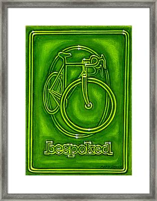 Bespoked In Lime  Framed Print