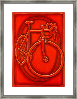 Bespoked In Orange  Framed Print