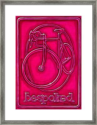 Bespoked In Raspberry  Framed Print