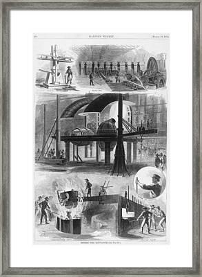 Bessemer Steel Manufacture. Six Framed Print
