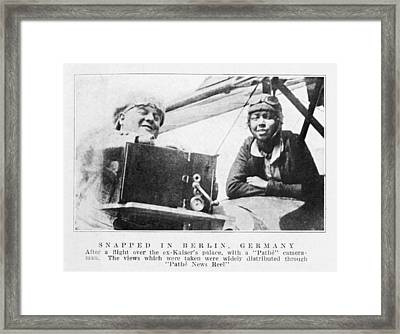 Bessie Coleman, Us Aviation Pioneer Framed Print