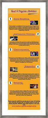 Best 5 Psychic Abilities Framed Print