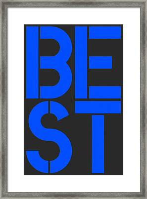 Best-7 Framed Print