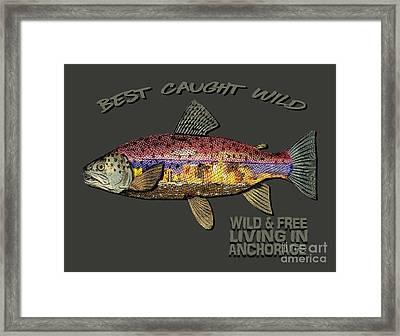 Fishing - Best Caught Wild-on Dark Framed Print