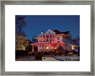 Best Christmas Lights Lake Of The Isles Minneapolis II Framed Print by Wayne Moran