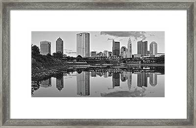 Framed Print featuring the photograph Best Columbus Black And White by Frozen in Time Fine Art Photography