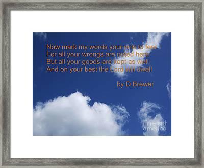 Best Framed Print by Deborah Brewer