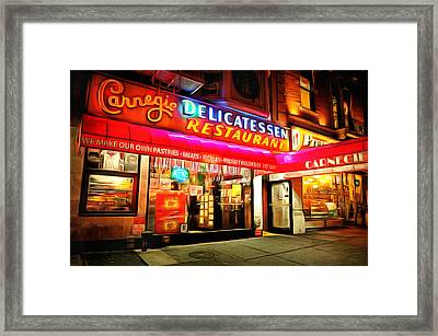 Best Deli In Nyc Framed Print