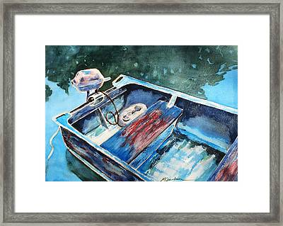 Best Fishing Buddy Framed Print by Marilyn Jacobson