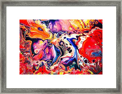 Best Friends  - Abstract Colorful Mixed Media Painting Framed Print by Modern Art Prints