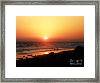 Best Friends At The Beach Framed Print