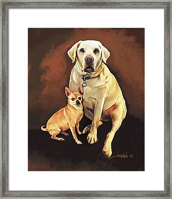 Best Friends By Spano Framed Print by Michael Spano
