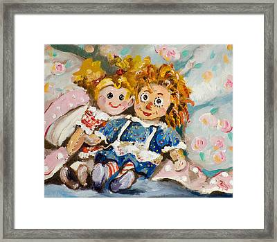Best Friends Framed Print by Delilah  Smith